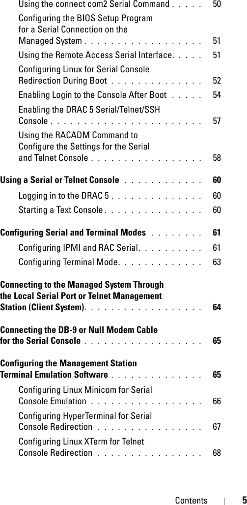 Dell Drac 5 Version 1 60 Owners Manual Remote Access Controller