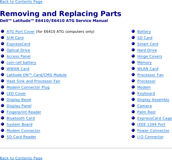 Dell E6410 Users Manual Service