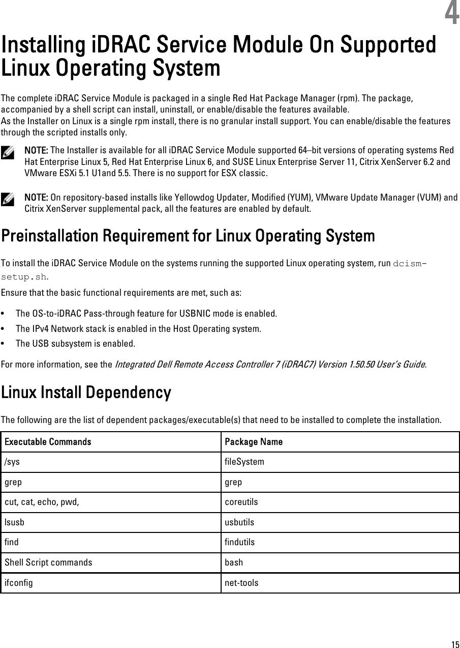 Dell Idrac Service Module 1 0 Manual Version 1 0