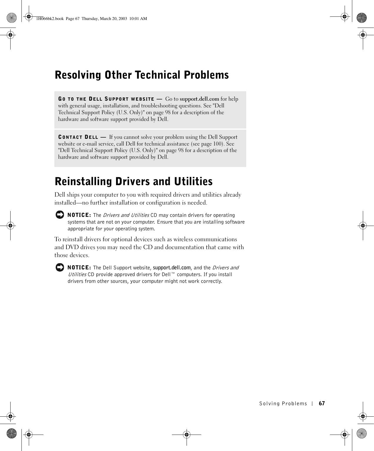 how to install drivers and utilities cd dell