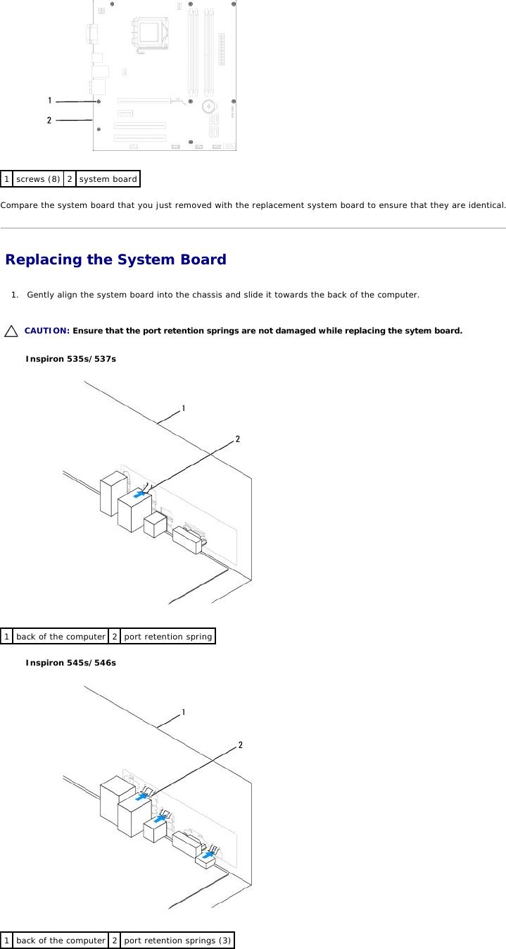 Dell Inspiron 546S Service Manual