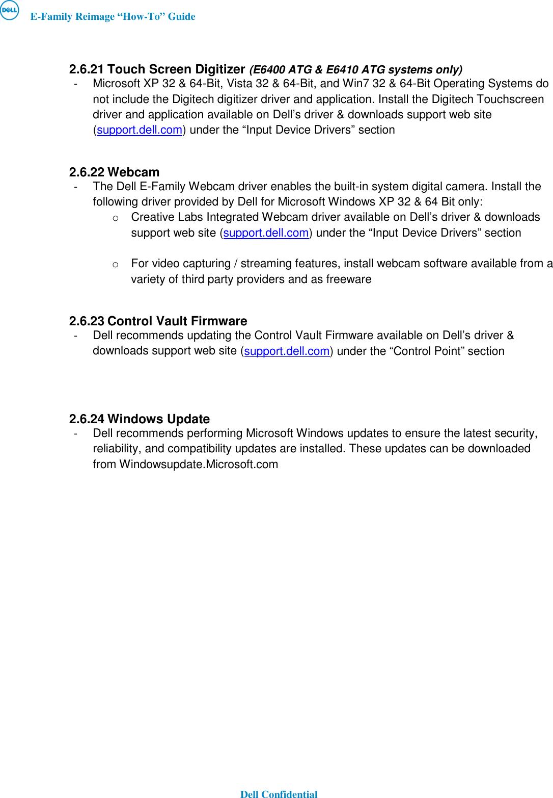 Dell Latitude E6410 Atg Owners Manual E Family Re Image Guide