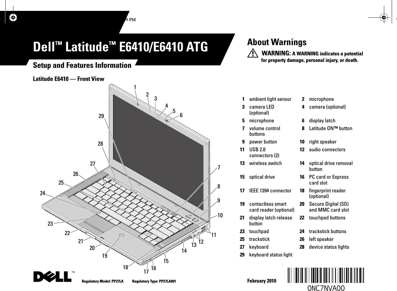 Dell Latitude E6410 Setup Guide ManualsLib Makes It Easy To Find