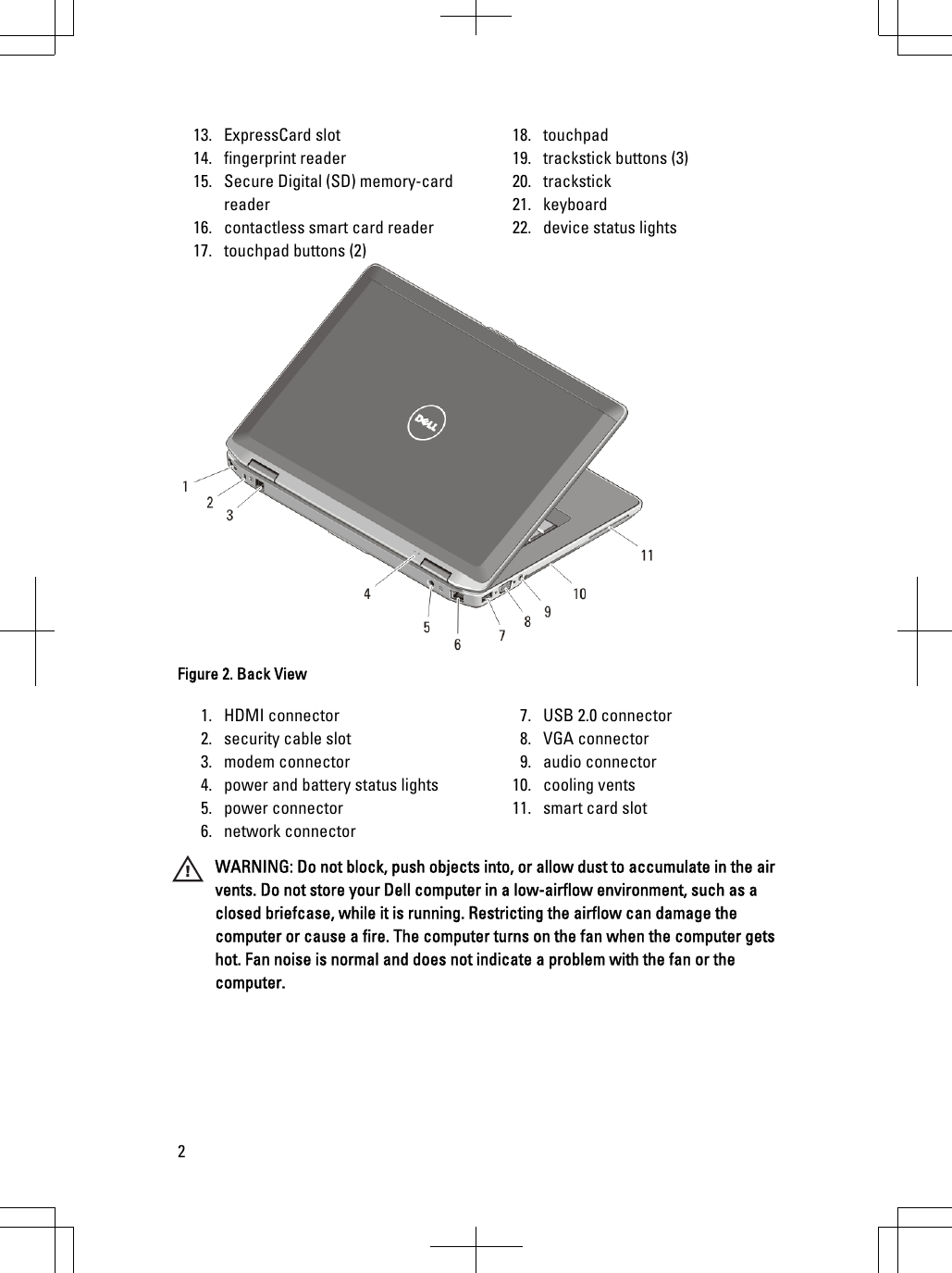Dell Latitude E6520 Early 2011 Tech Sheet Setup And Features Information