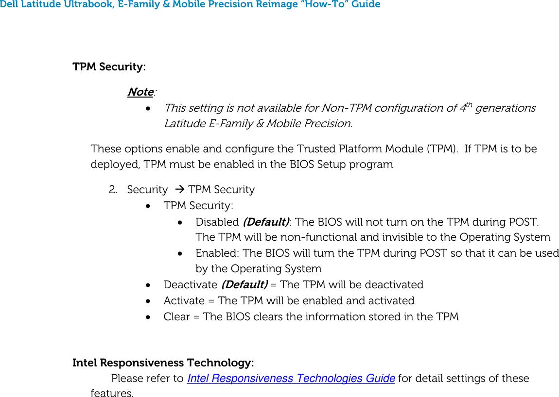 Dell Latitude E6540 Late 2013 Quick Reference Guide Re image