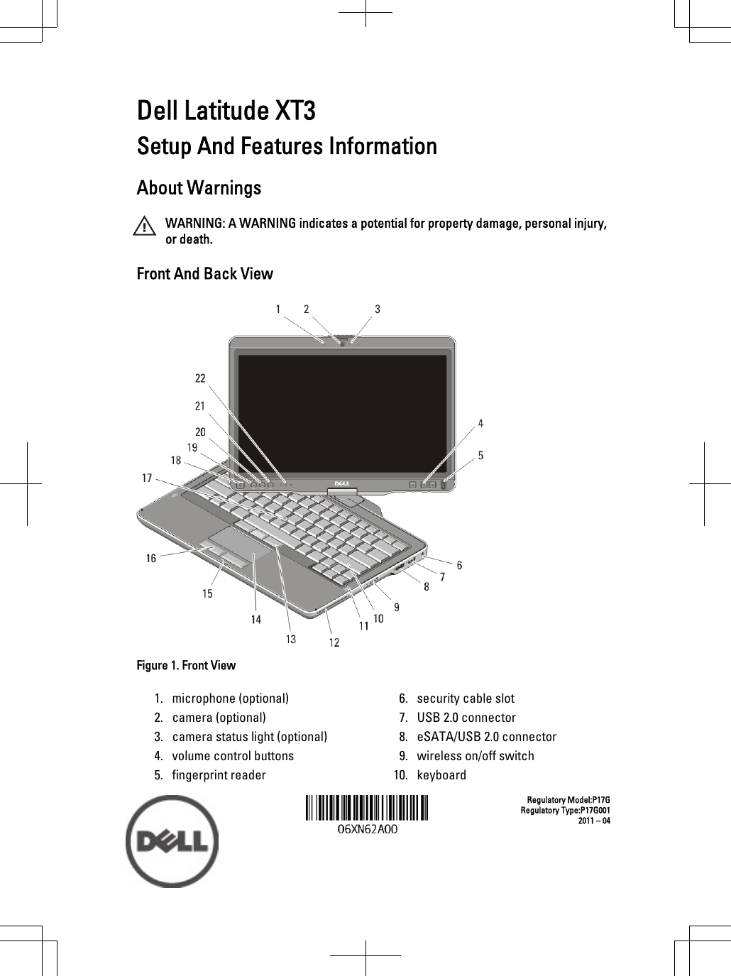 Dell Latitude Xt3 Mid 2011 Tech Sheet Setup And Features