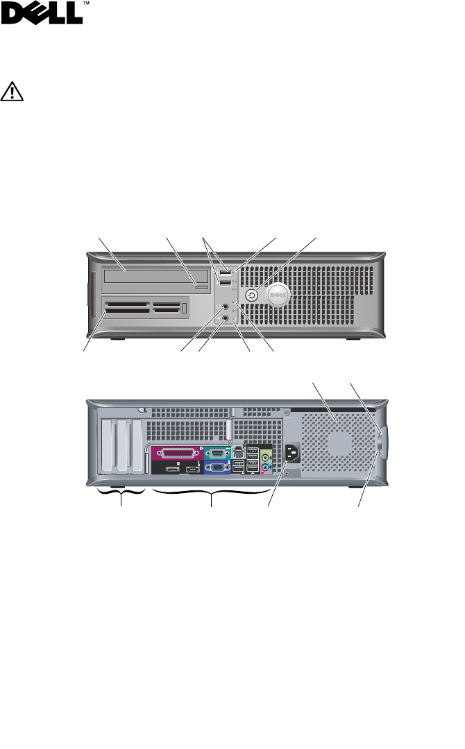 Dell Optiplex 780 Late 2009 Setup And Features Information