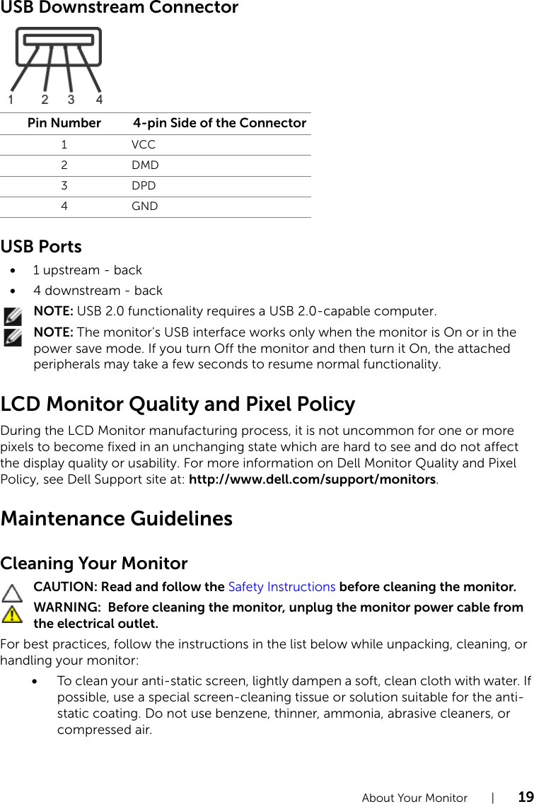 Dell P2214H Monitor Owners Manual P2414H User's Guide