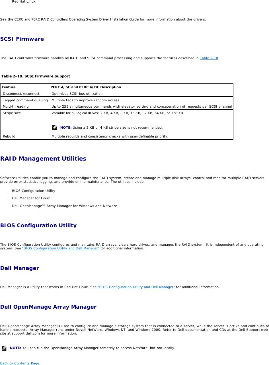 Dell Perc 4E Dc Users Manual PowerEdge Expandable RAID