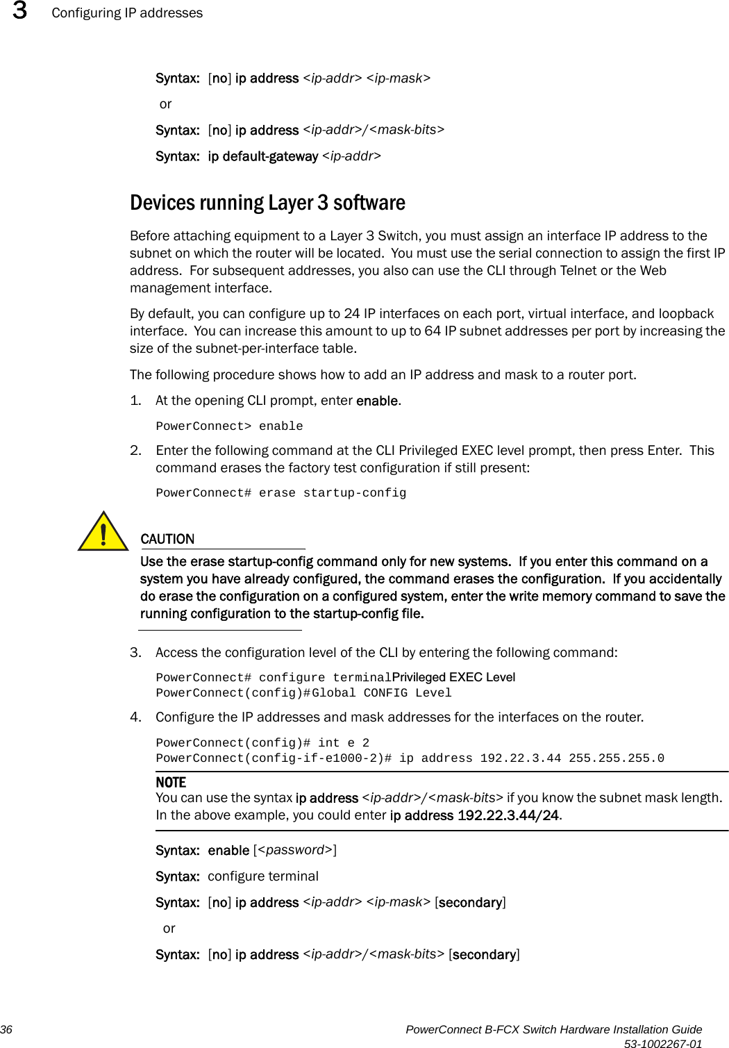 Dell Powerconnect B Fcxs Quick Start Guide Hardware Installation