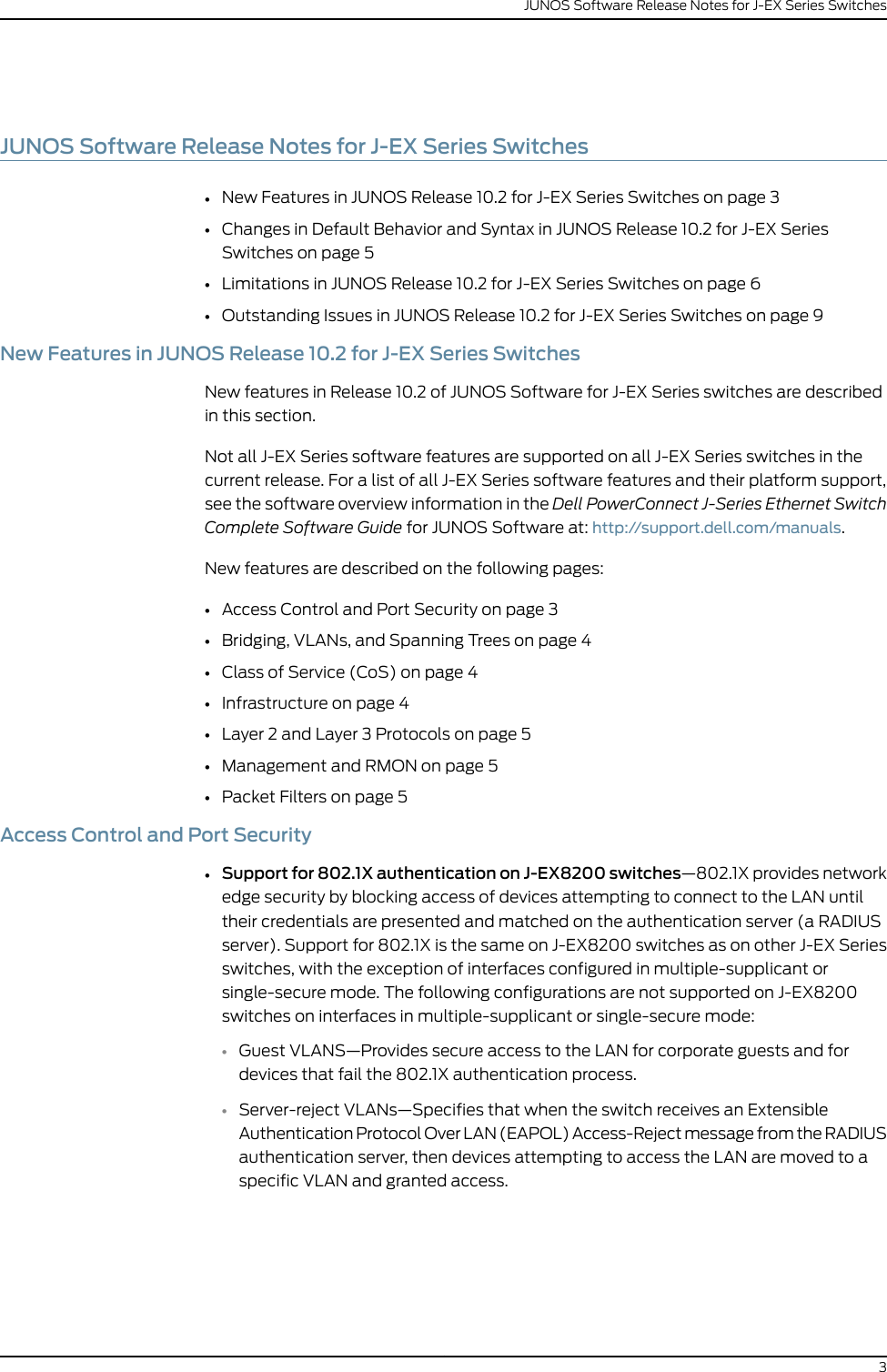 Dell Powerconnect J Ex8216 Owners Manual Release Notes JUNOS