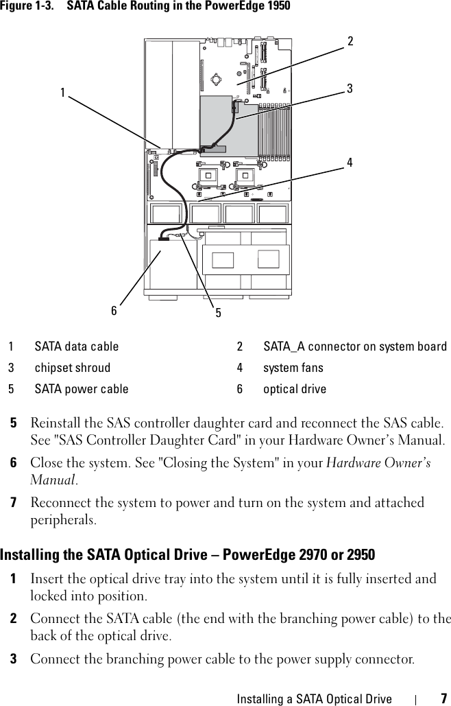 dell poweredge 2950 wiring diagram dell poweredge 2950 installation manual installing a sata optical  dell poweredge 2950 installation manual