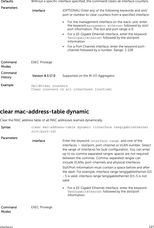 Dell Poweredge M Io Aggregator Command Line Reference Guide 9 5(0 1