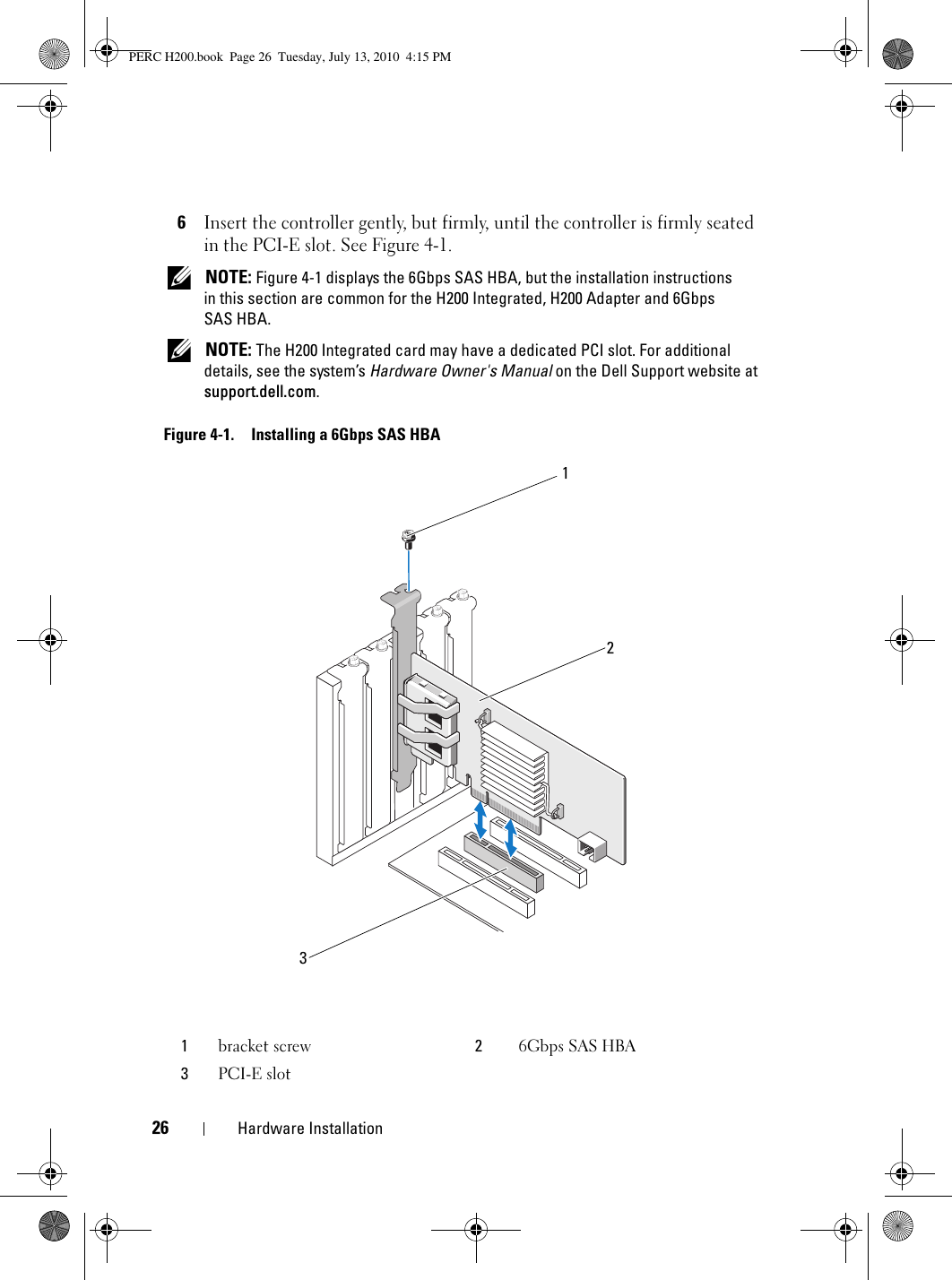 Dell Poweredge Raid Controller H200 Owners Manual User's Guide