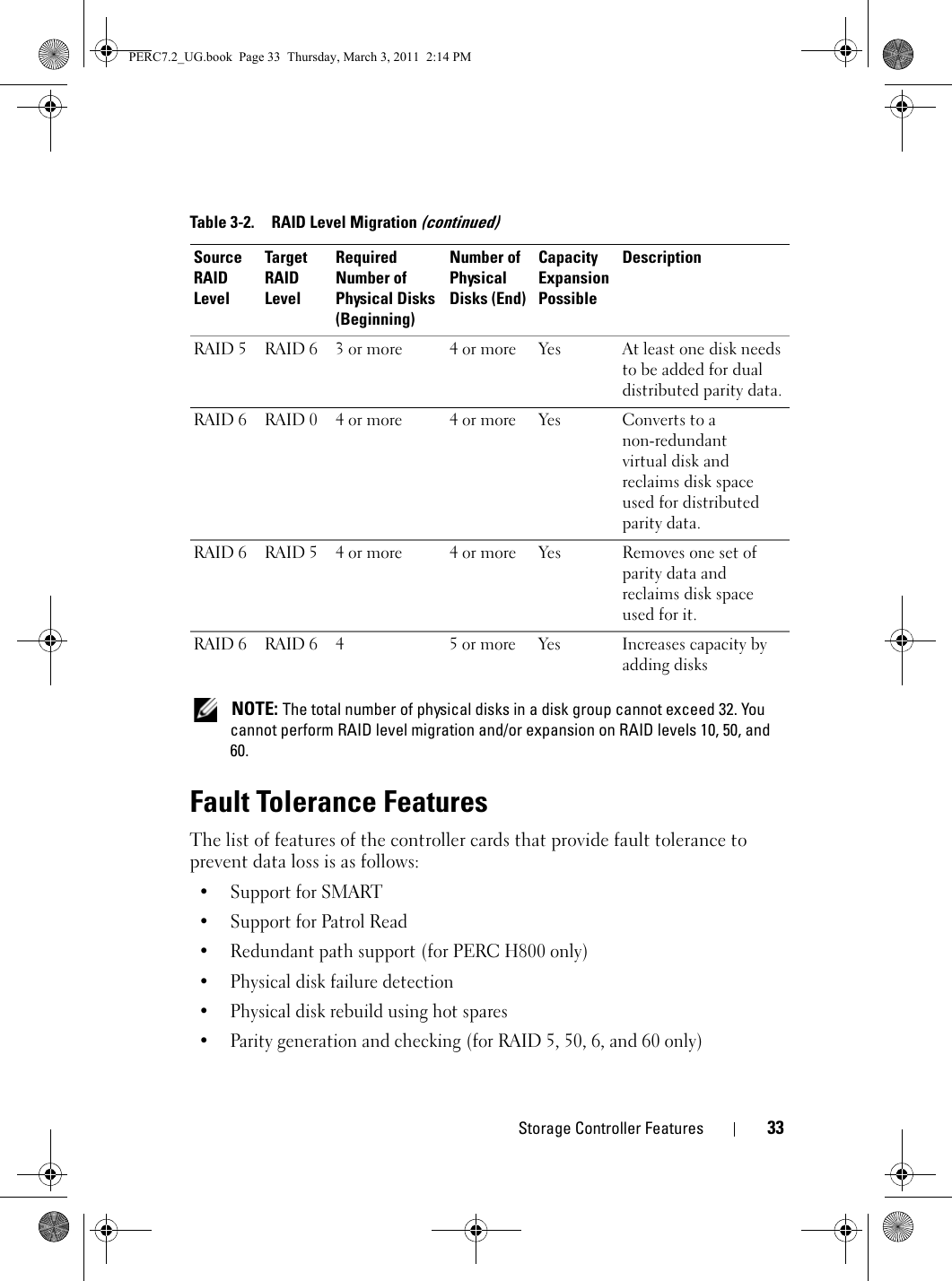 Dell Poweredge Raid Controller H700 Owners Manual User's
