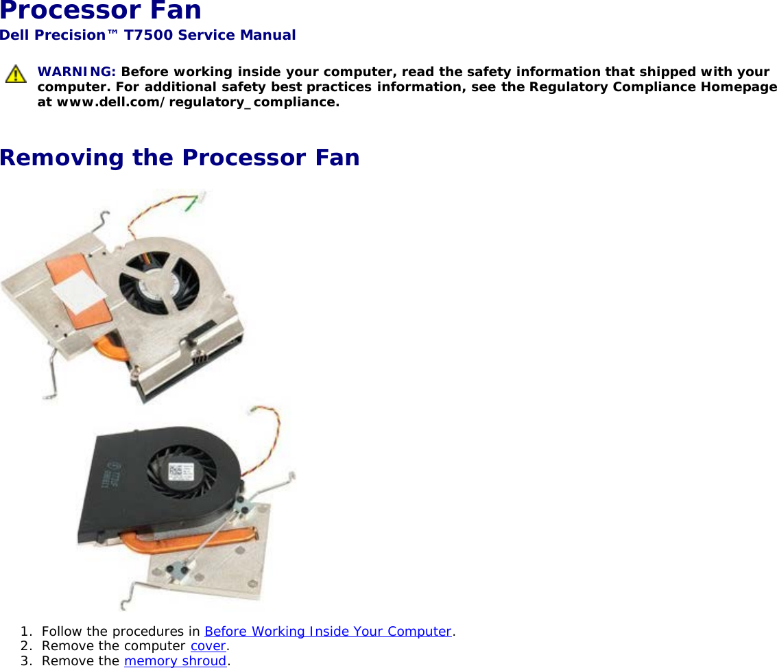 Dell Precision T7500 Early 2009 Service Manual Precision™