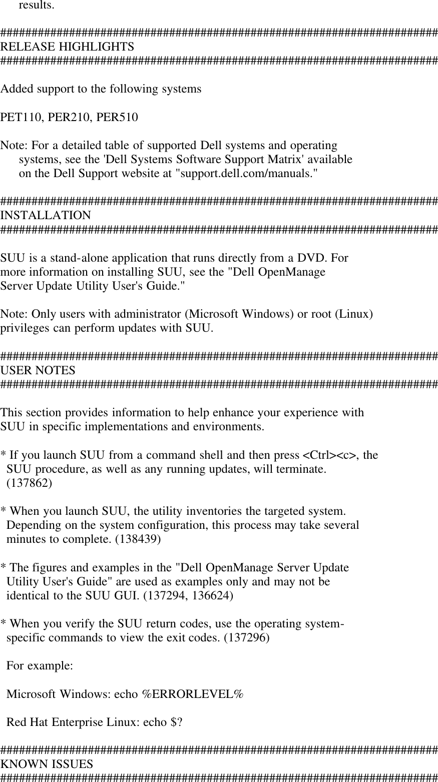 Dell Server Update Utility Version 6 3 Owners Manual 6 3 Readme For