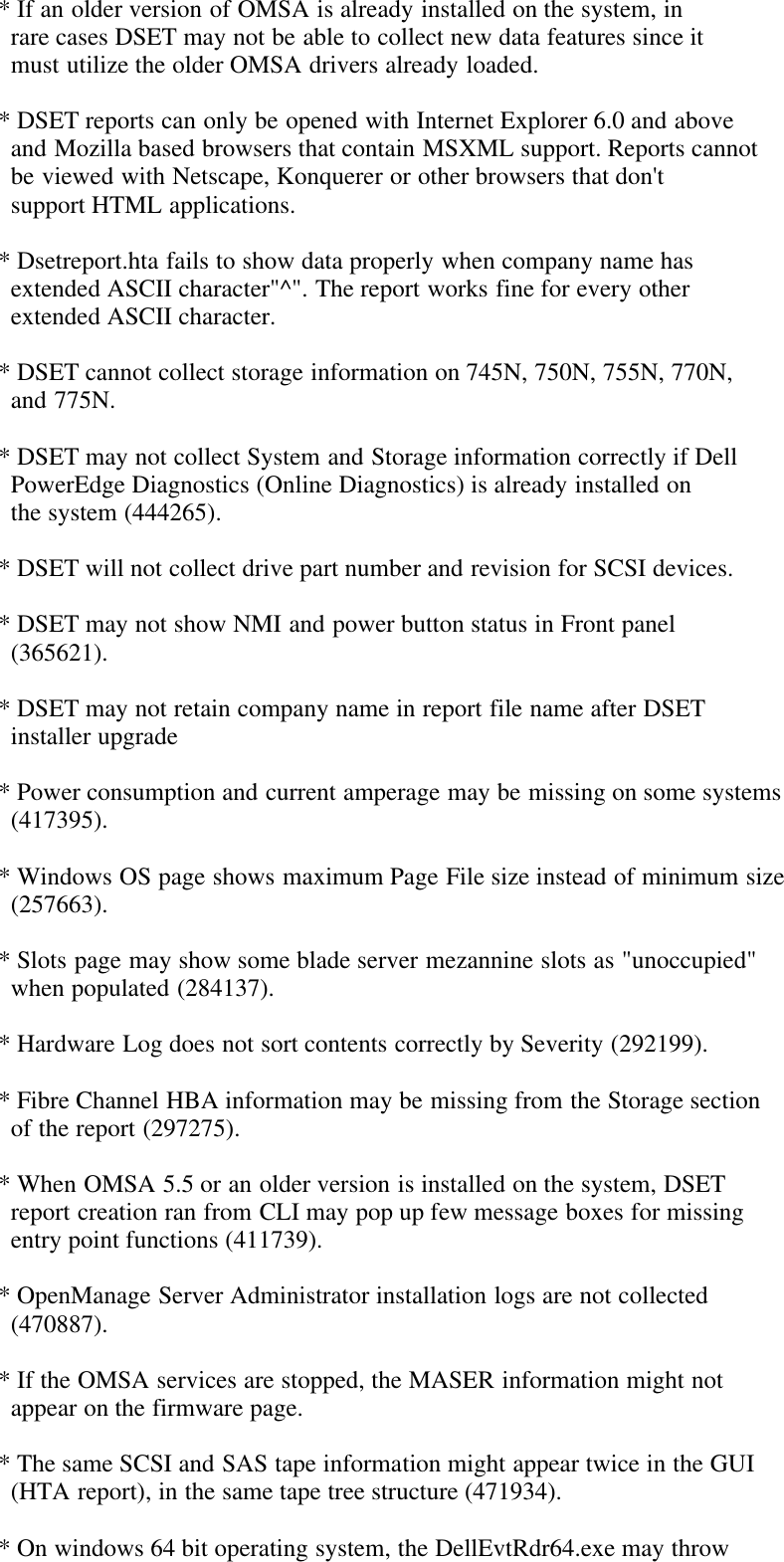Dell System E Support Tool Version 2 Owners Manual 2 2 Readme