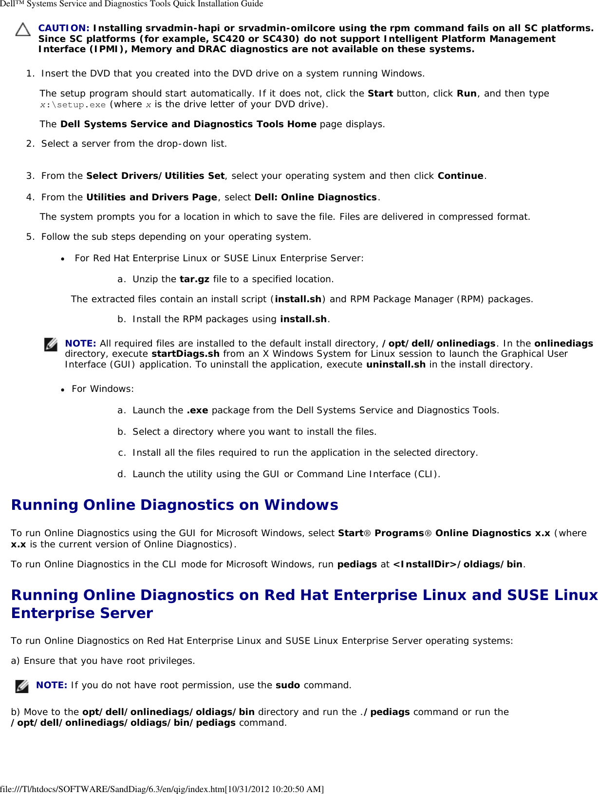 Dell System Services And Diagnostic Tools Version 6 3 Users