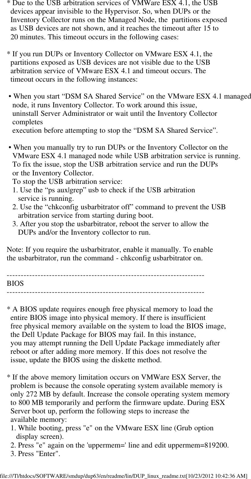 Dell Update Packages Version 6 3 Owners Manual 6 3 Readme (For Linux)