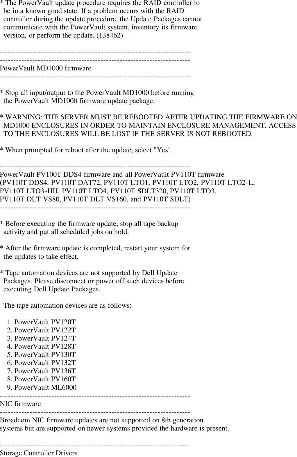 Dell Update Packages Version 6 4 Owners Manual Readme For