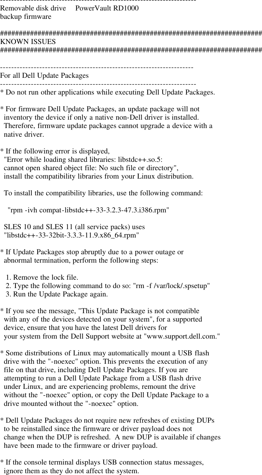 Dell Update Packages Version 6 4 Owners Manual 6 4 Readme For Linux