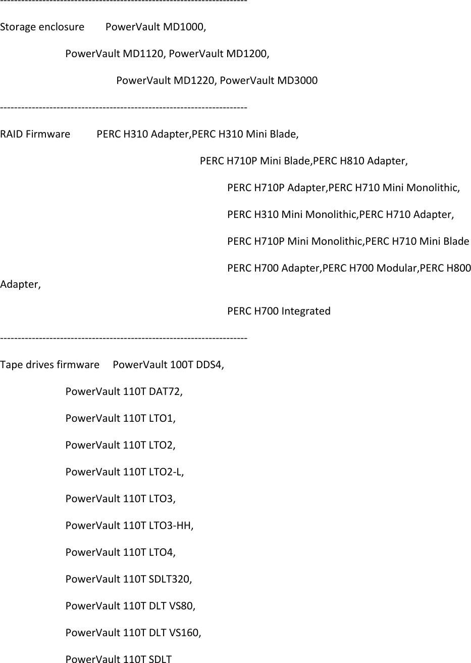 Dell Update Packages Version 7 2 Owners Manual 7 2 Release Notes