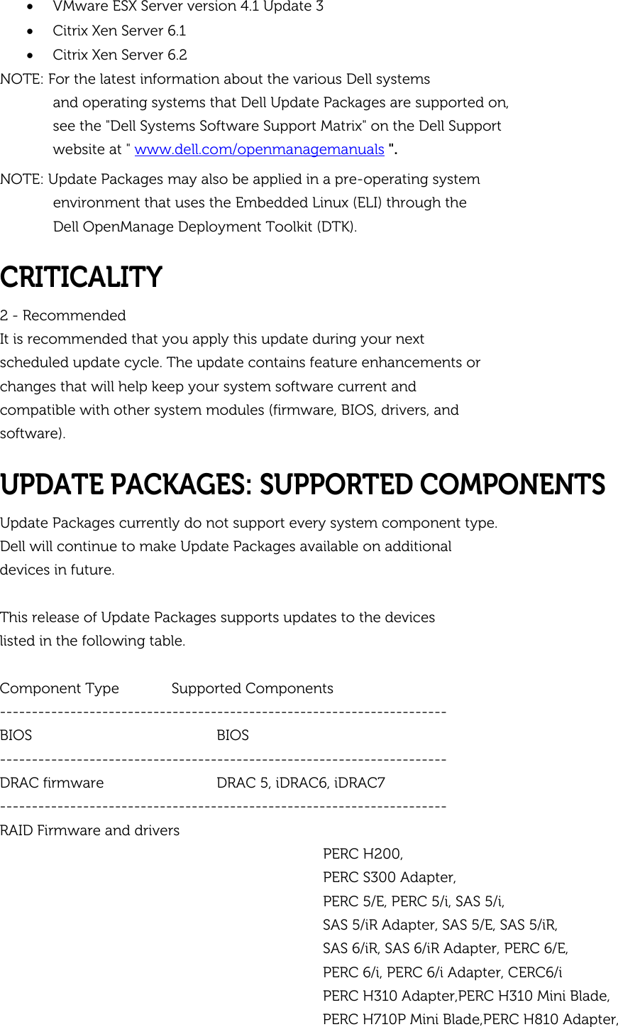 Dell Update Packages Version 7 3 Owners Manual 7 3 Release