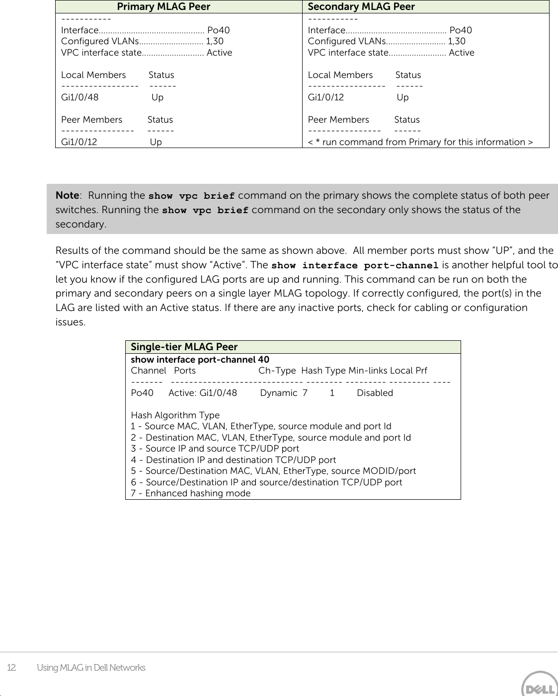 Dell N3024 Using MLAG In Networks User Manual To The