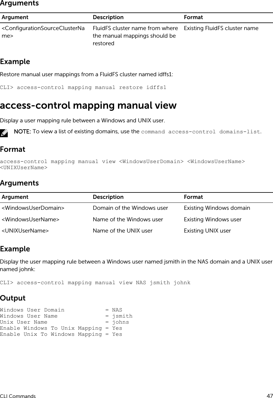 Dell compellent fs8600 FluidFS 5 0 Appliance CLI Reference Guide