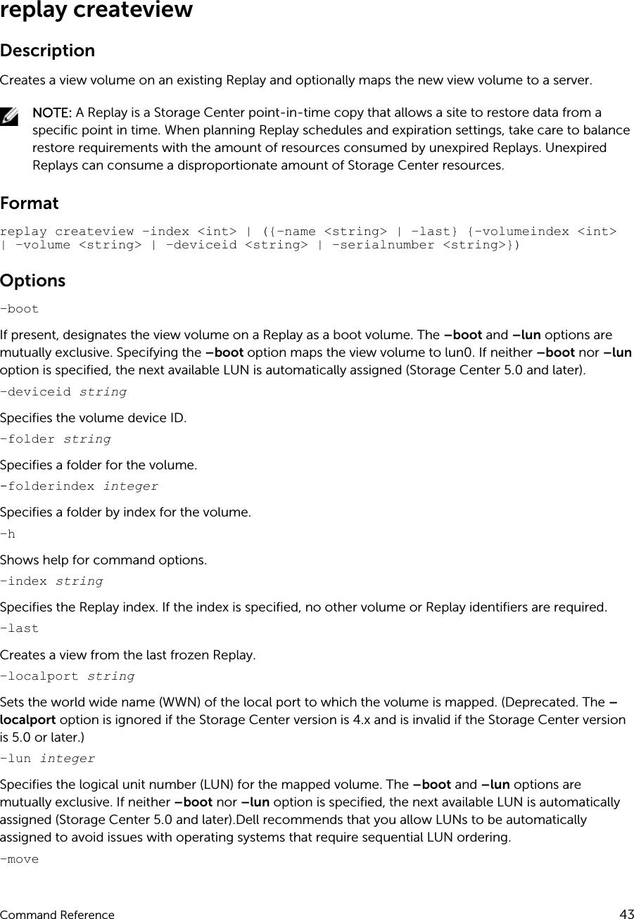 Dell compellent sc4020 Storage Center OS Version 7 Command