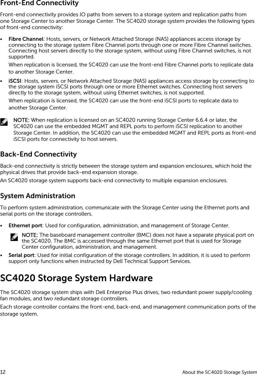 Dell compellent sc4020 Storage Center System Owner's Manual