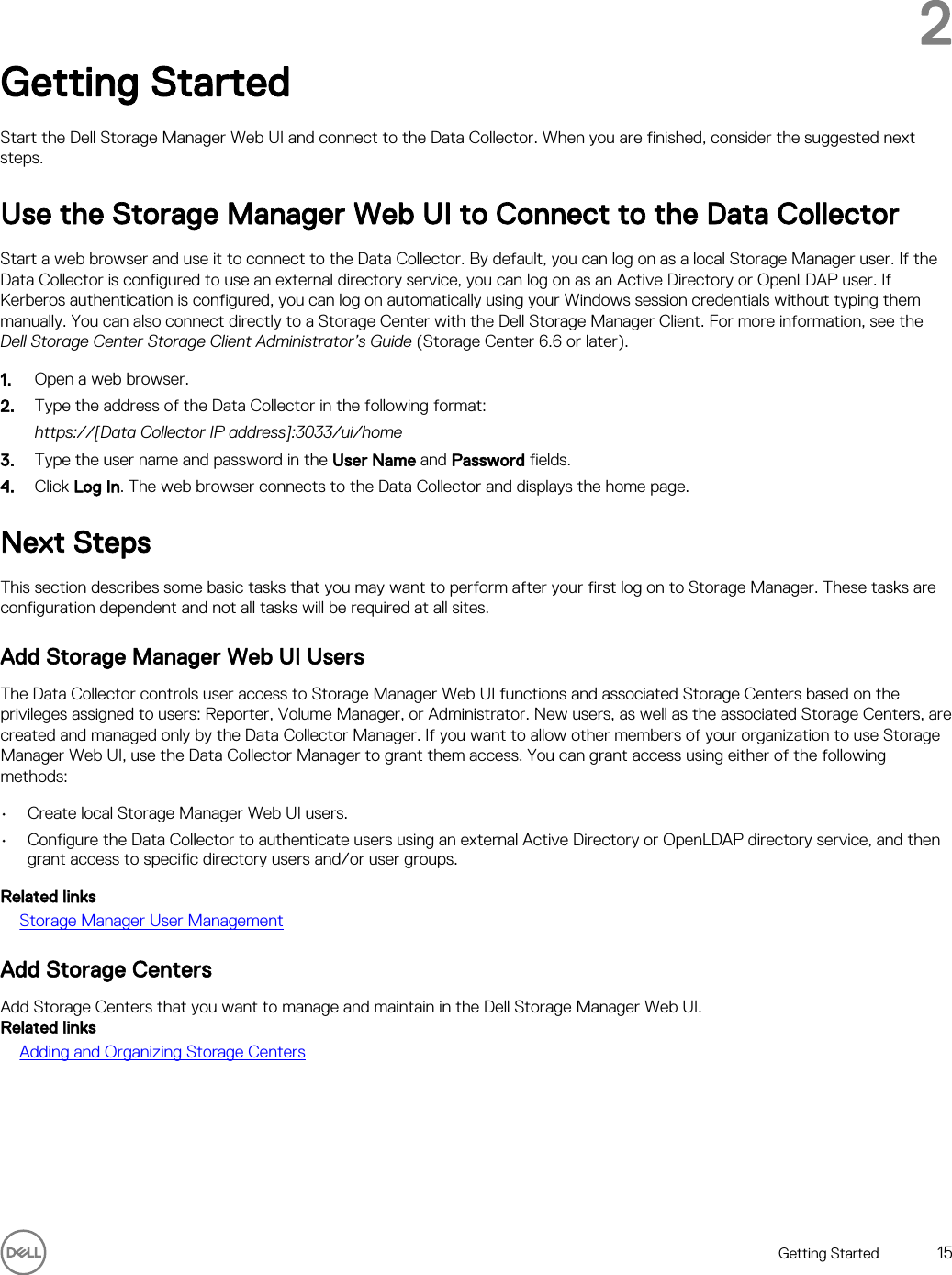 Dell compellent sc4020 Storage Manager 2016 R3 Web UI
