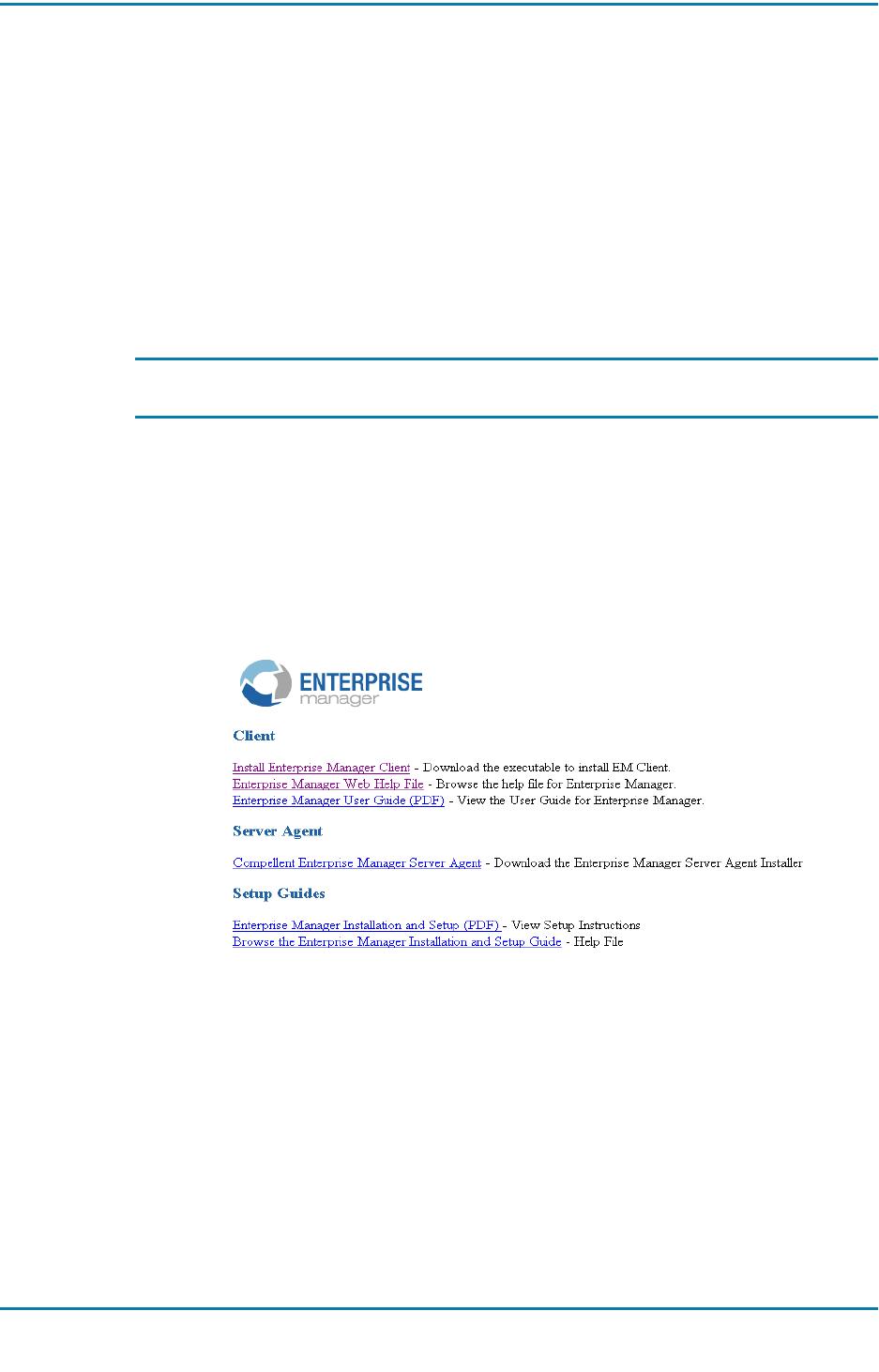 Dell compellent storage series30 Series 30 Enterprise Manager 5 5