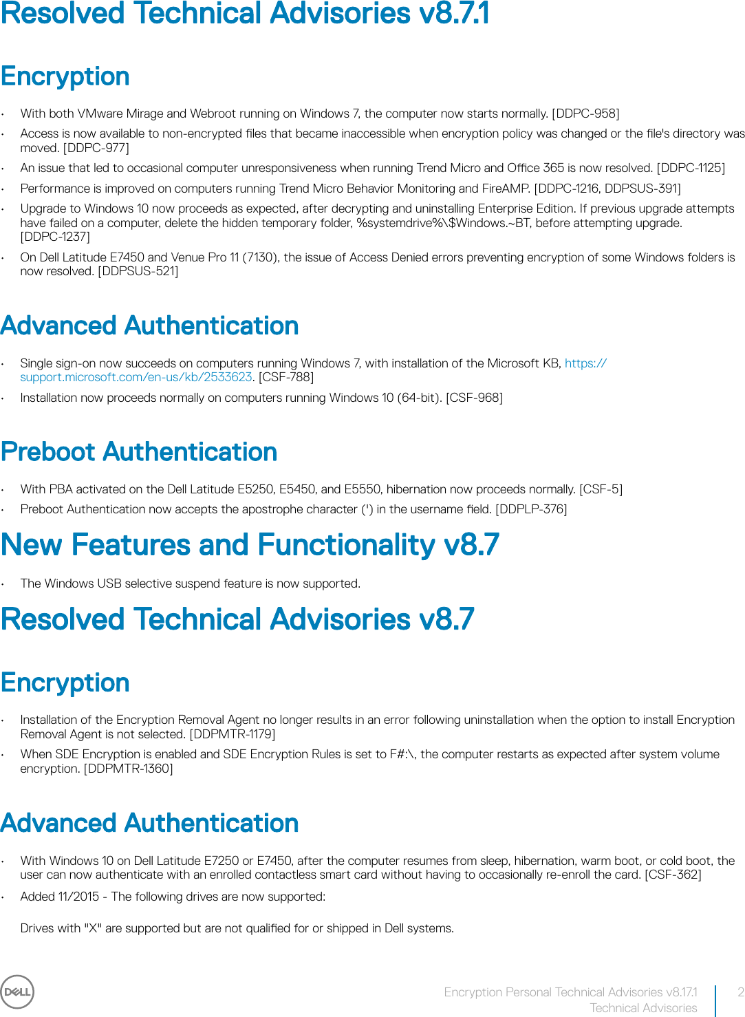 Dell data protection encryption Security Personal Technical
