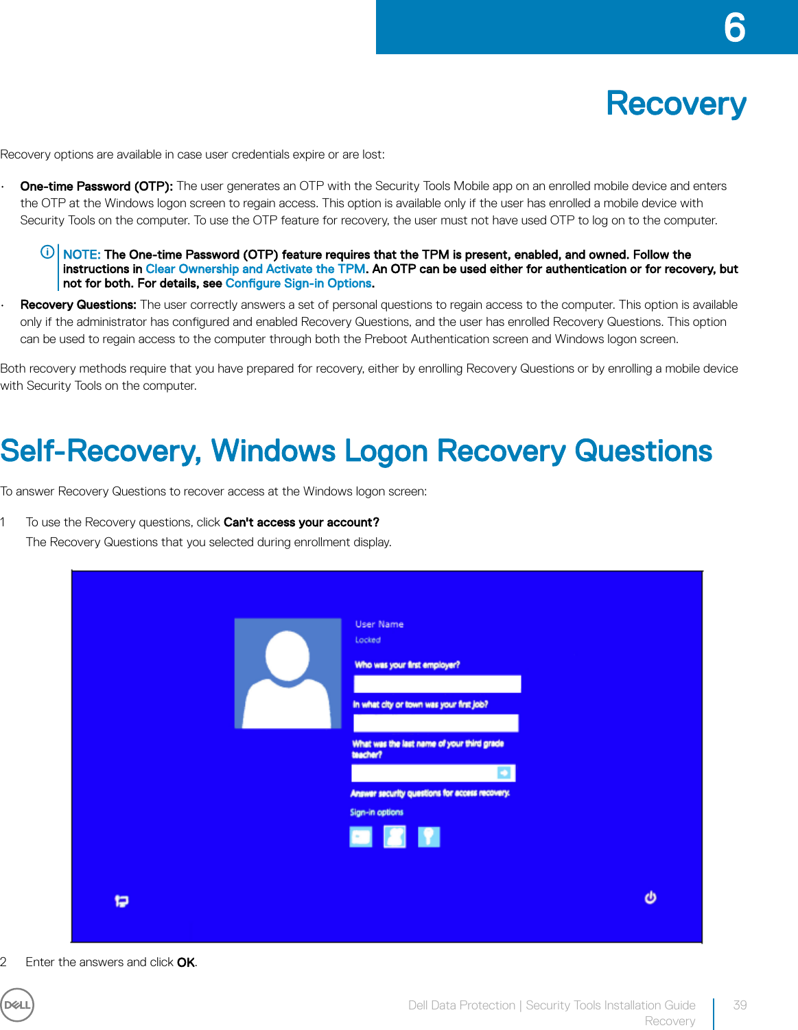 Dell data protection security tools | Installation Guide V1