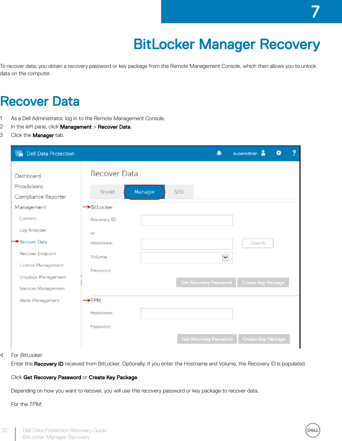 Dell data protection security tools Recovery Guide User