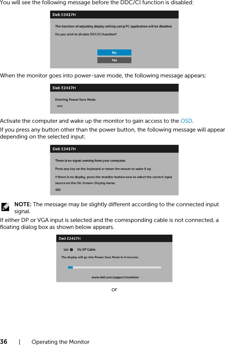 Dell e2417h monitor User's Guide User Manual En us
