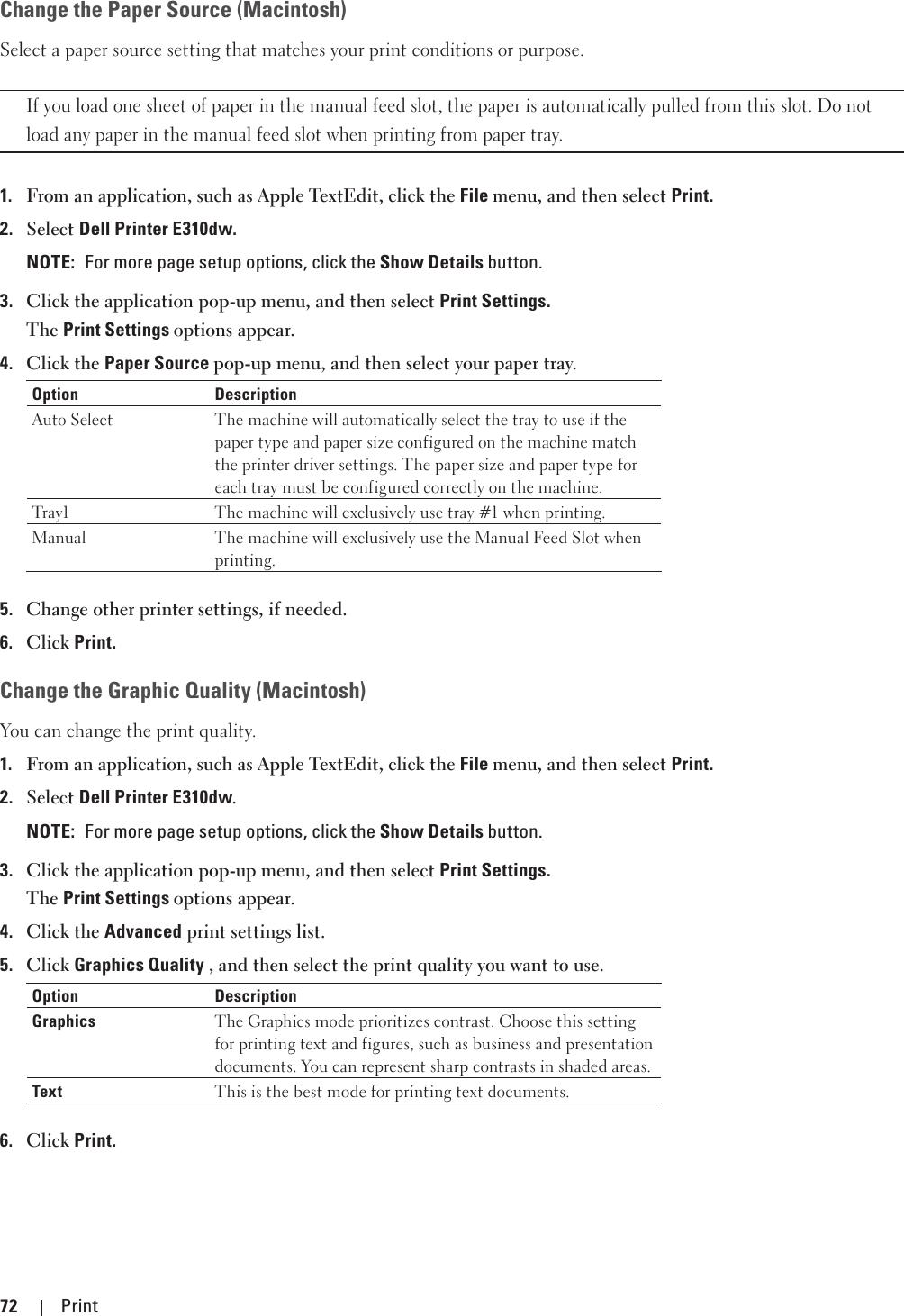 Dell e310dw printer User's Guide User Manual En us