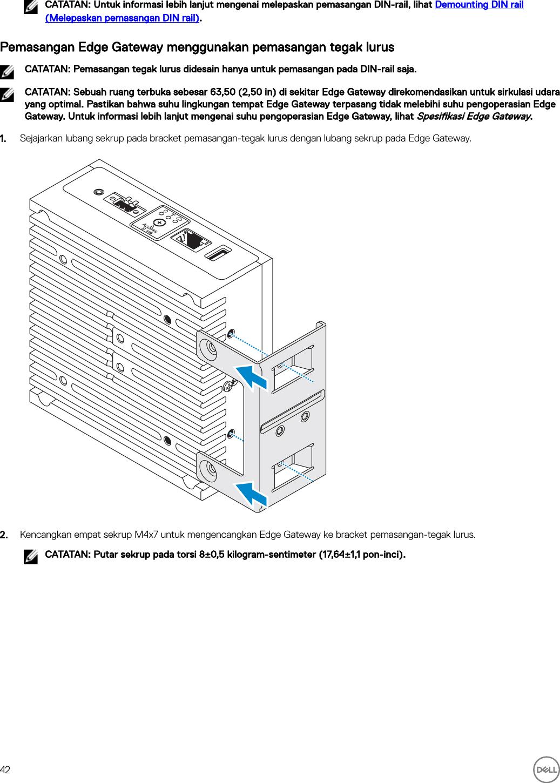 Dell edge gateway 3000 series 3003 Panduan Pemasangan Dan