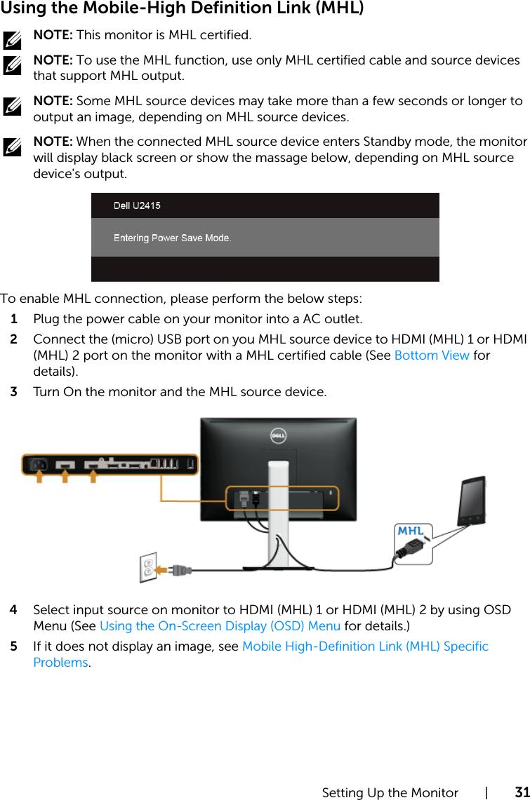 Dell u2415 Monitor User's Guide User Manual User's En us