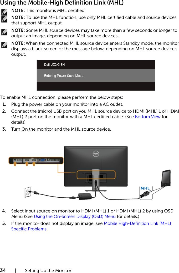 Dell uz2315h User's Guide User Manual En us