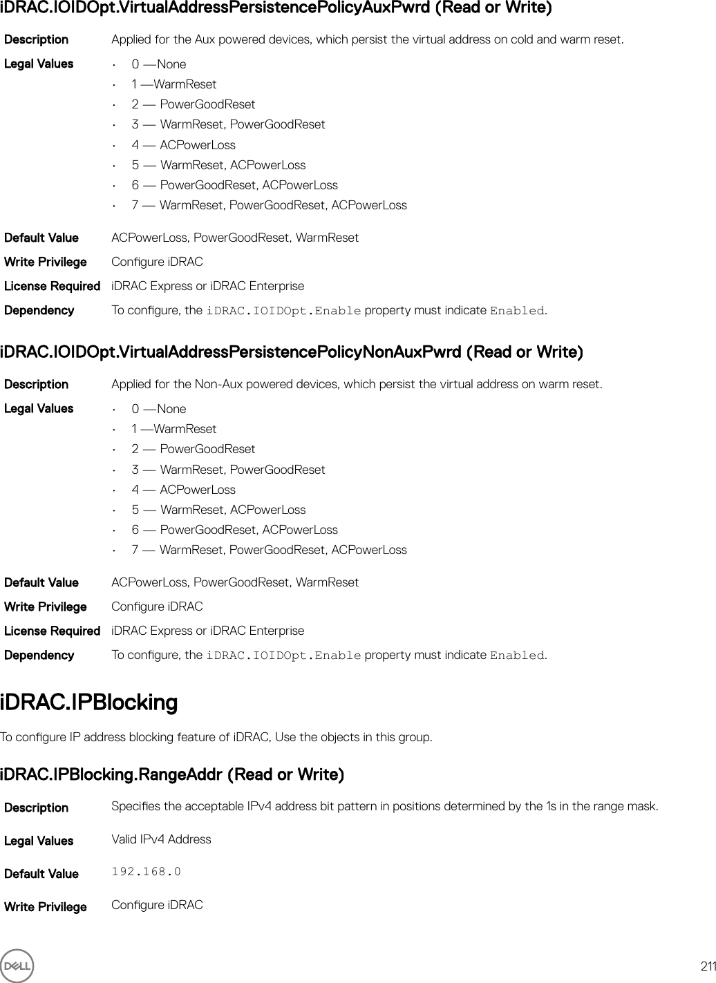 Dell Poweredge c4130 IDRAC 8/7 V2 30 30 30 RACADM CLI Guide User
