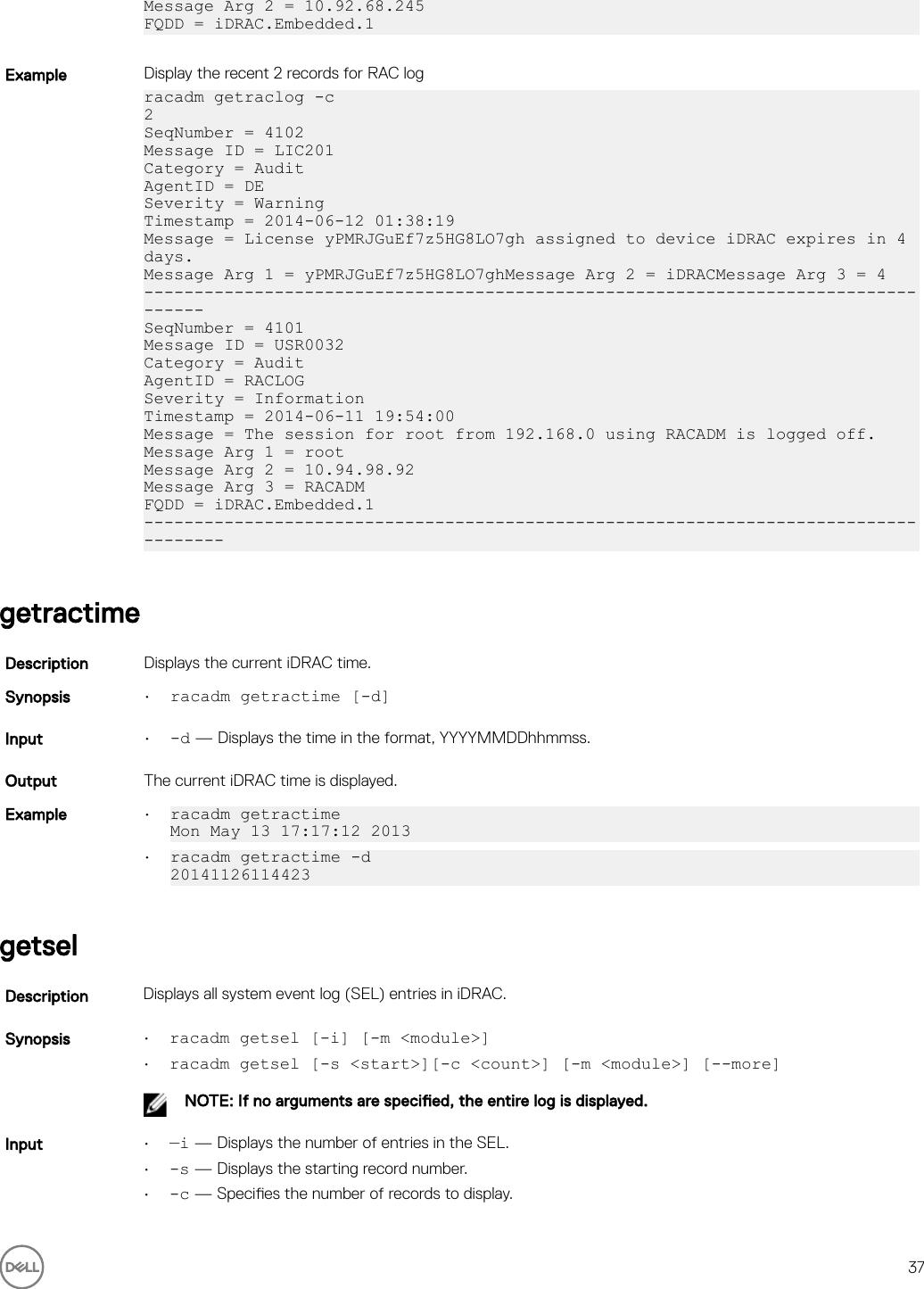 Dell Poweredge c4130 IDRAC 8/7 V2 30 30 30 RACADM CLI Guide