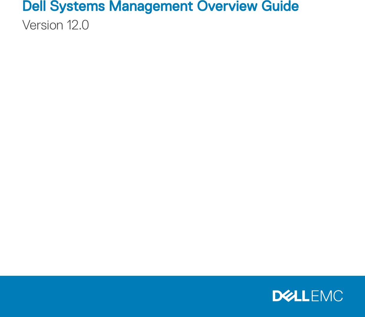Dell Poweredge c6400 Systems Management Overview Guide