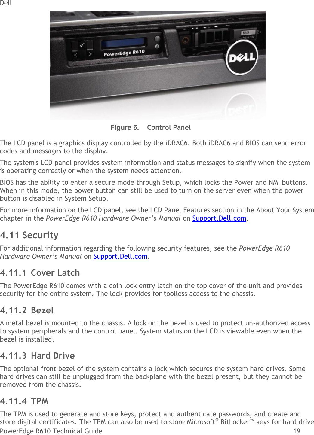 Dell If Not Then Server poweredge r610 tech guidebook