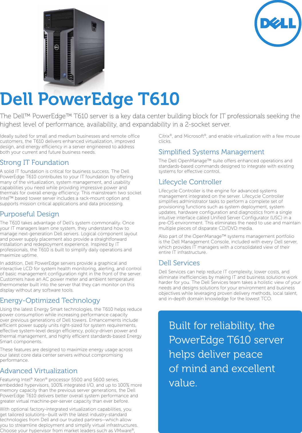 Poweredge T610 Manual