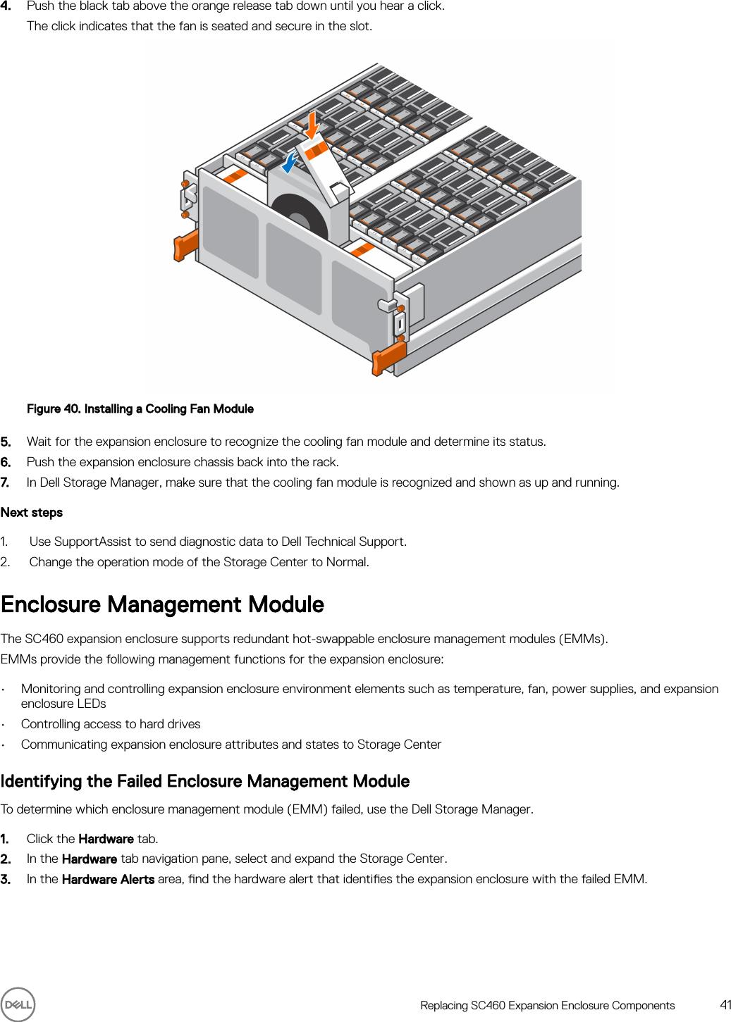 Dell Storage sc460 Expansion Enclosure Owner's Manual User En us