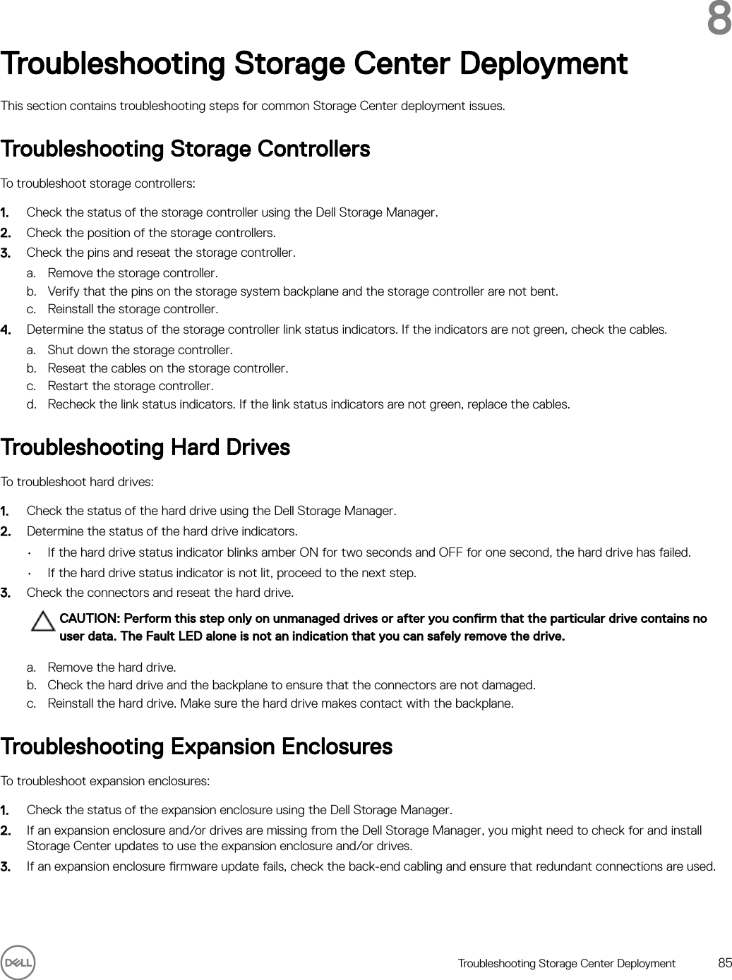 Dell Storage scv3000 And SCv3020 System Deployment Guide User Manual