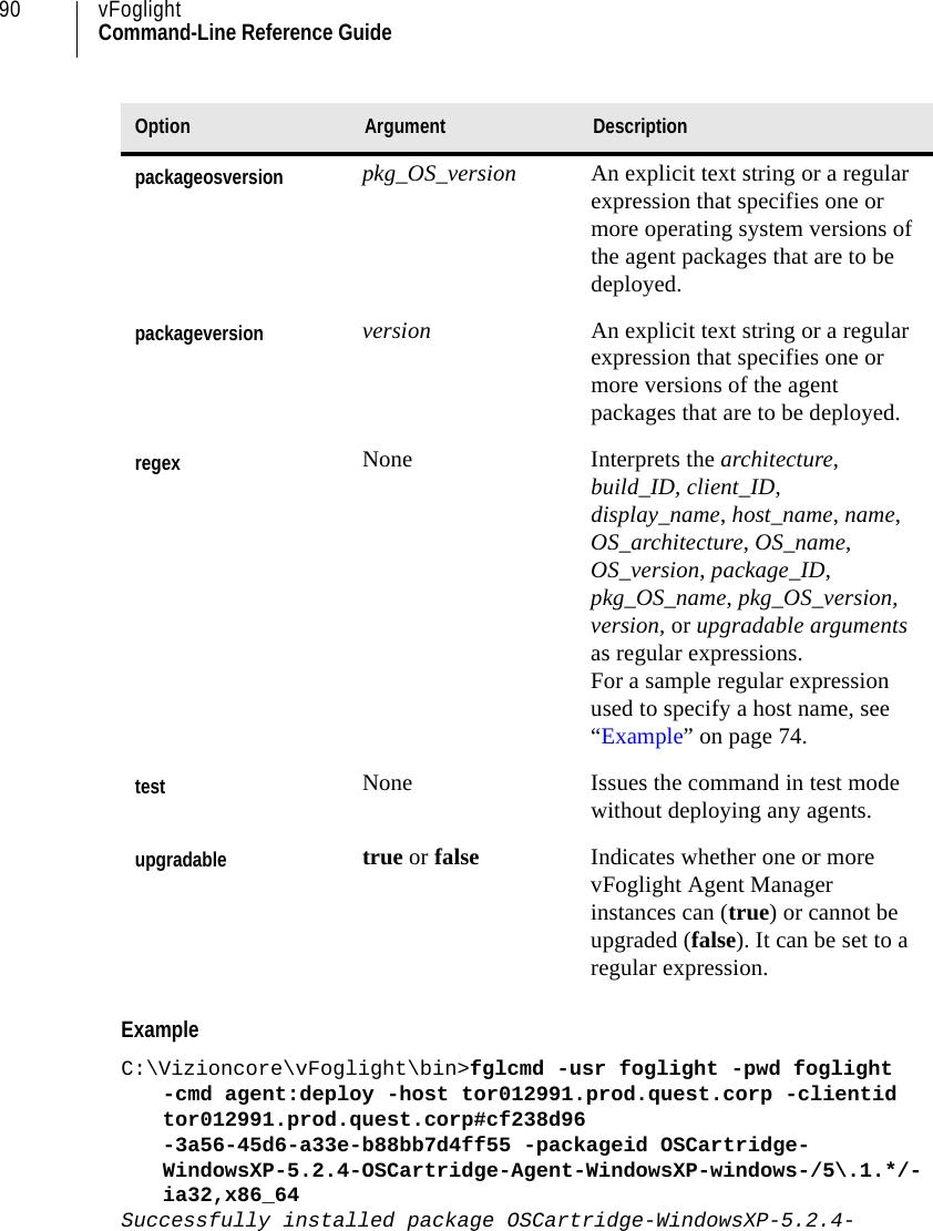 Dell Vzncre Vizioncore Command Line Reference Guide User